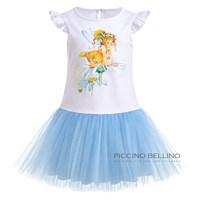 Платье трикотажное с фатиновой юбкой арт 03109